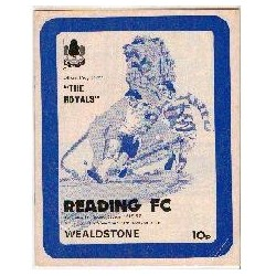 Reading v Stones FA Cup 1st Round 1976