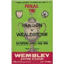 Hendon v Stones Amateur Cup Final 1966
