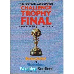 Boston Utd v Stones FA Trophy Final 1985
