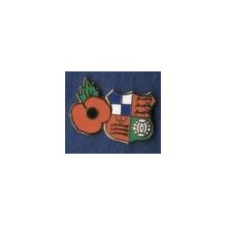 Wealdstone FC Poppy enamel badge