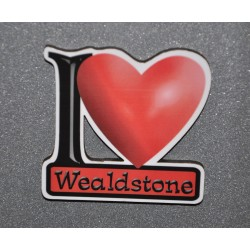I Love Wealdstone Fridge Magnet
