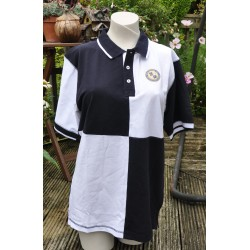 WFCSC Quartered Polo Navy & White