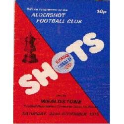 Aldershot v Wealdstone FA Cup 1st Round 1975