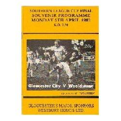 Gloucester C v Stones SL Cup Final 1st leg 1982