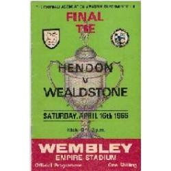 Hendon v Stones Amateur Cup Final 1966