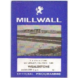 Millwall v Stones FA Cup 1st Round 1965