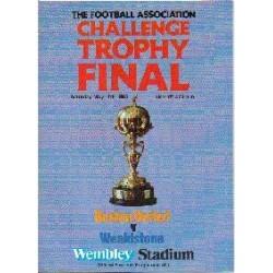 Boston Utd v Stones FA Trophy Final 1985