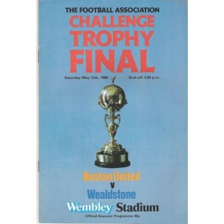 1985 FA Trophy Final vs Boston United DVD
