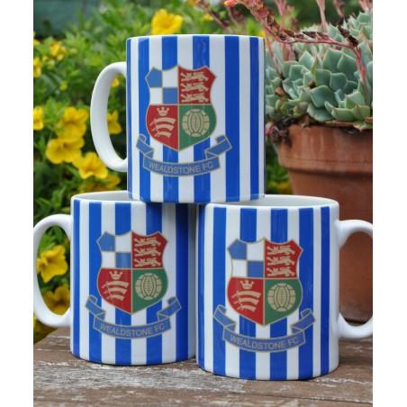 Wealdstone FC Blue & White Striped Mug