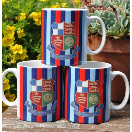 Wealdstone Red Blue & Navy Striped Mug