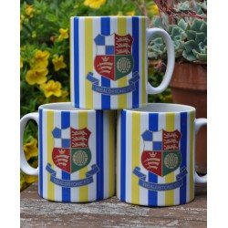 Wealdstone Blue, White & Yellow Striped Mug