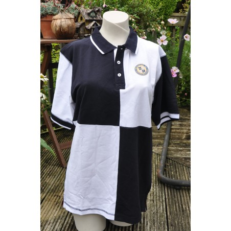 WFCSC Female Quartered Polo Navy & White