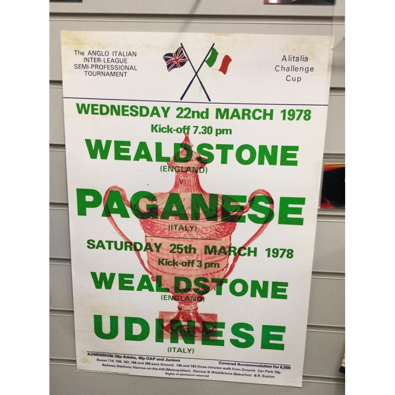 Anglo Italian Cup Poster - Paganese / Udinese
