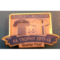 Billericay FA Trophy Quarter-Final match badge