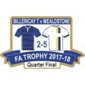 Billericay FA Trophy Quarter-Final match badge