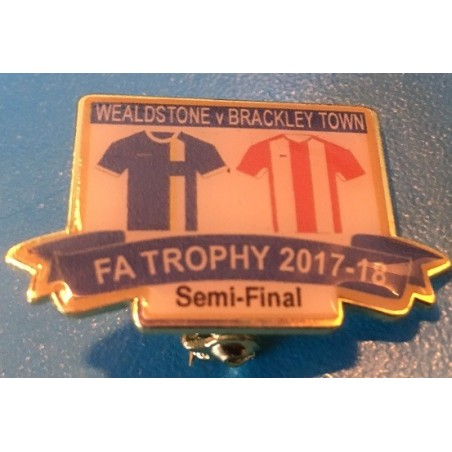Brackley Town FA Trophy Semi-Final match badge