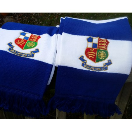 Wealdstone FC Double Embroidered Bar Scarf