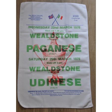 Anglo Italian Cup 1978 Tea Towel