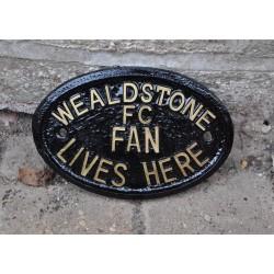 Wealdstone FC Fan Lives Here Plaque