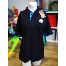 WFCSC Black & White Hooped Polo Shirt