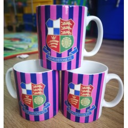 Wealdstone FC Pink & Navy Striped Mug