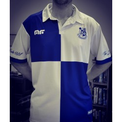 Blue & White Quartered Polo Shirt