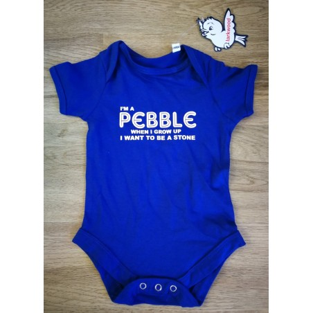 I'm a Pebble Baby Vest - White / Pink