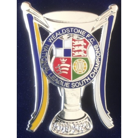 Wealdstone FC National League South Champions 2019/2020 lapel badge