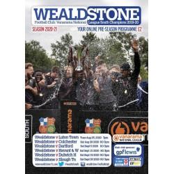 Pre-Season Programme 2020/21