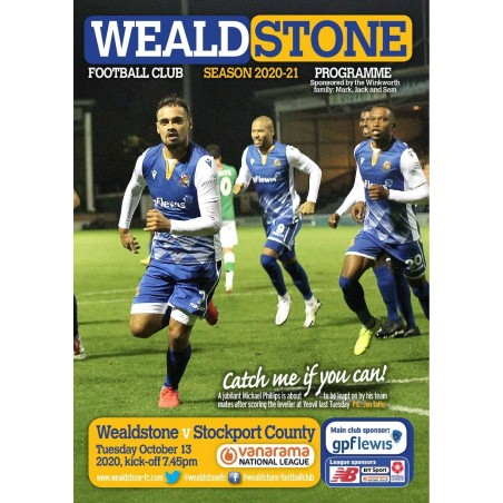 Stockport County Programme 13/10/20 (ONLINE)
