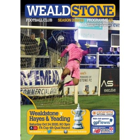 Hayes & Yeading Programme 24/10/20 (ONLINE)