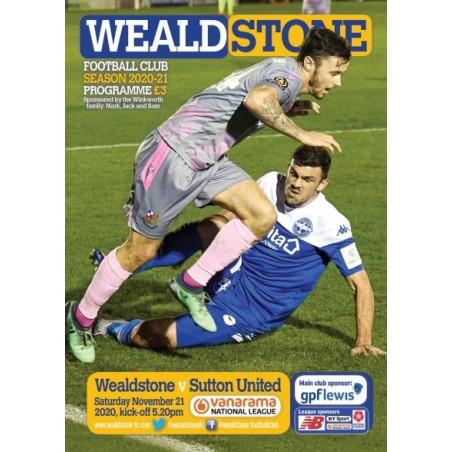 Sutton United Programme 21/11/20 (ONLINE)