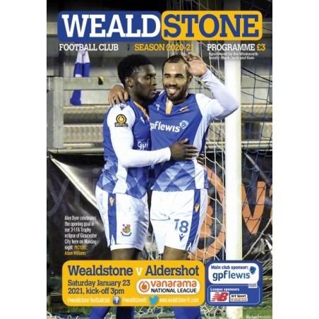 Aldershot Town (23/01/21) Programme (ONLINE)